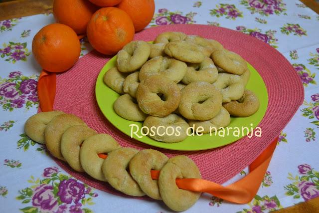 ROSCOS DE NARANJA, (al horno)