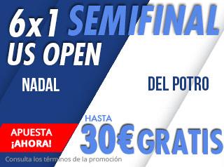 suertia promocion semifinal open usa Nadal vs Del Potro 7 septiembre