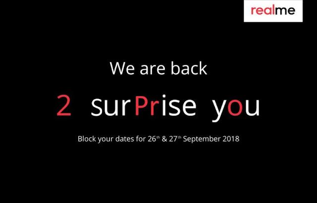 Realme 2 Pro Akan Diluncurkan pada 26 dan 27 September