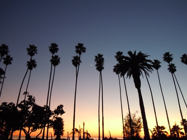 Santa Monica winter sunset