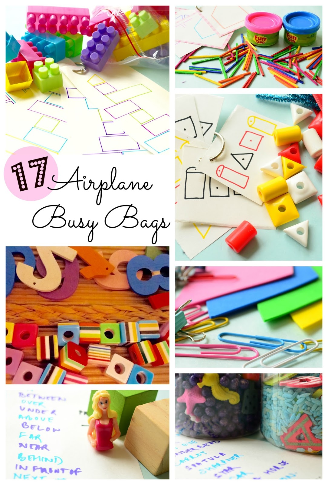 17 Airplane & Hotel Busy Bags to keep your kids entertained.