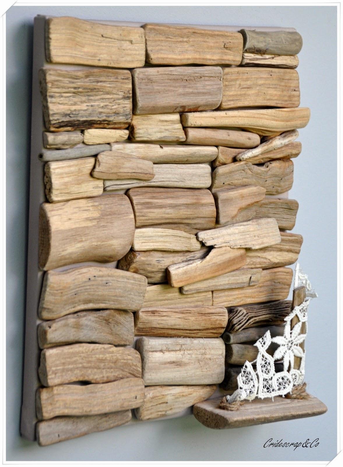la boutique deco de cridescrap co tableau maritime en bois flott. Black Bedroom Furniture Sets. Home Design Ideas