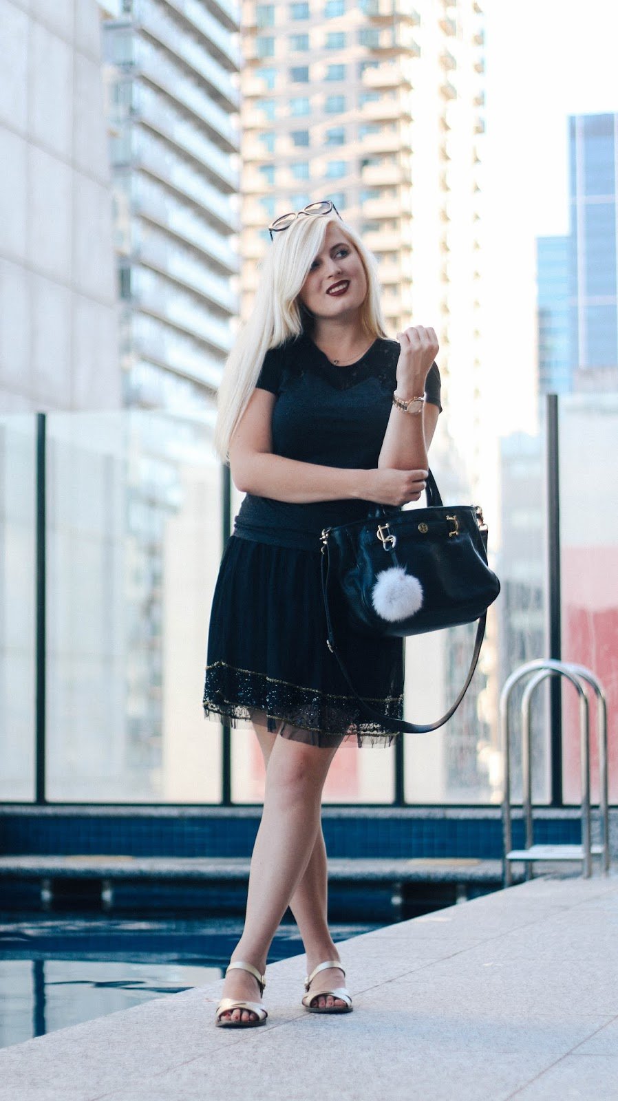 Monochromatic in Melbourne, Australia | GlobalFashionGal - Brianna Degaston