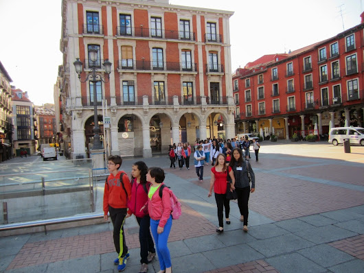 Meeting in Valladolid. May 9th. Visiting the Town Hall. Europe Day Celabration. Farewell.