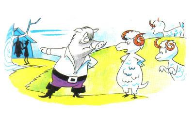 el jabalí y el carnero fabula