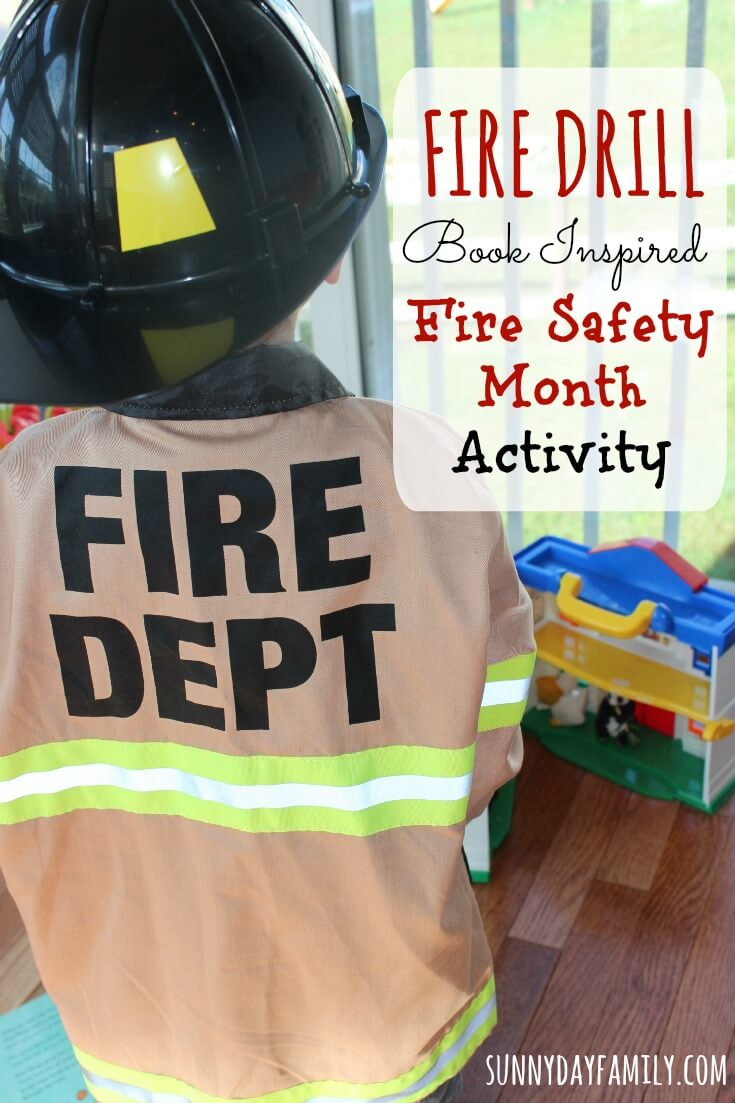 Help little kids learn about fire safety with a pretend play fire drill, inspired by the book Miss Mingo and the Fire Drill.