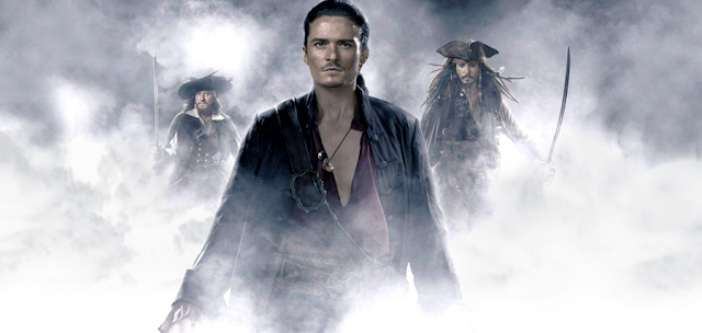 Orlando Bloom în Pirates Of The Caribbean 3
