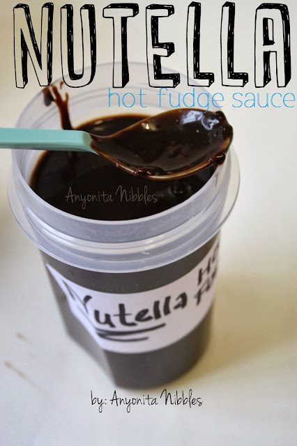 Nutella Hot Fudge Sauce from Anyonita Nibbles