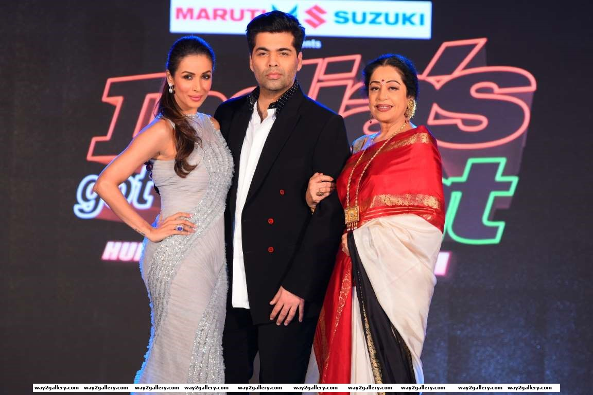 Malaika Arora Khan Karan Johar and Kirron Kher attended the launch of Indias Got Talent