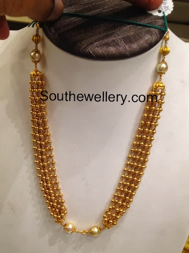 Gold Balls Necklace Jewellery Designs