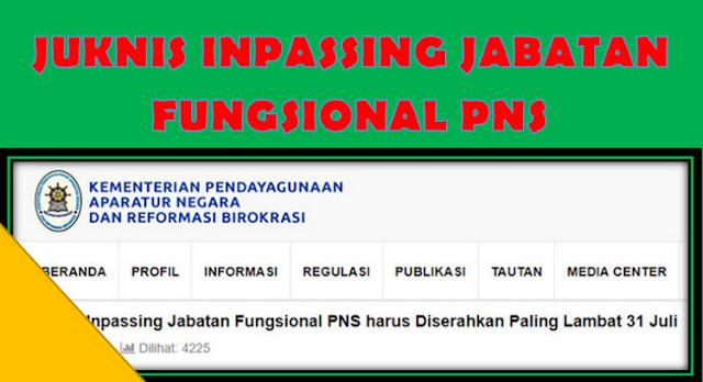 Edaran Juknis Inpassing Jabatan Fungsional PNS Tahun 2017 Kemenpan RB