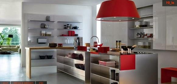 diseño de cocina en acero
