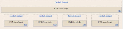 How to Make 4 Columns On Footer Blogspot