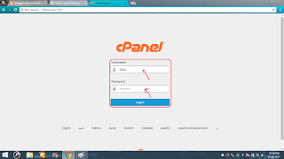 enter username and password of your cpanel