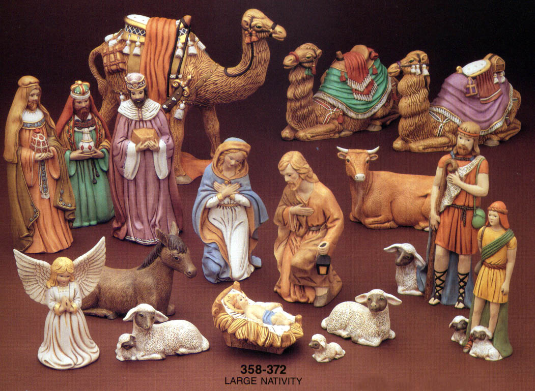marvelous porcelain nativity set - photo #7