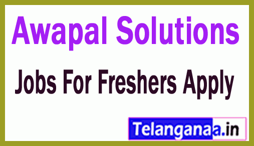 Awapal Solutions Recruitment Jobs For Freshers Apply