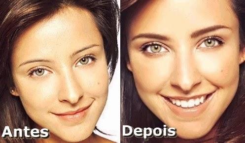 Sobrancelha de Henna Antes e Depois :