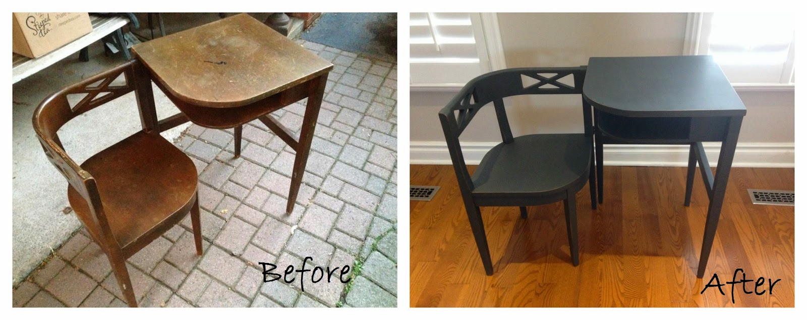 telephone table before after. Black Bedroom Furniture Sets. Home Design Ideas