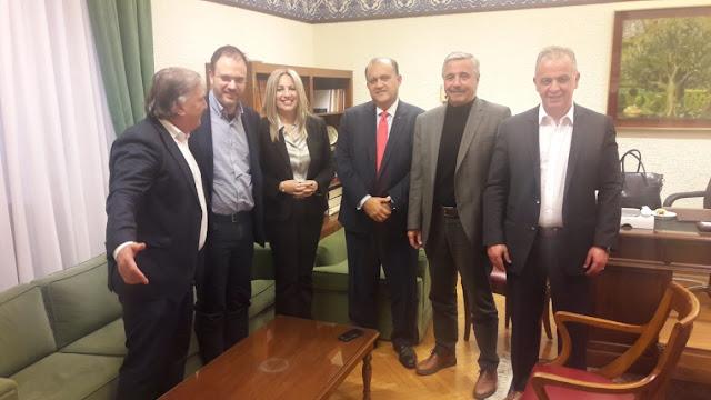 Συνάντηση Φ. Γεννηματά και Γ. Μανιάτη με τον Πρόεδρο του Αmerican Hellenic Institute mr. Nick Larigakis