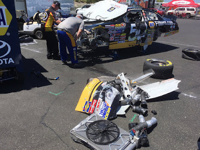 Eggleston and Gilliland Sidelined Early In Sonoma (#knwest #nascar)