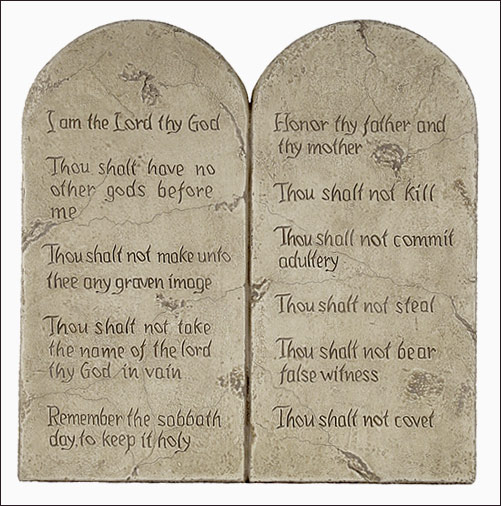 God is a myth!: The ten commandments
