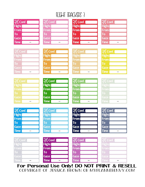 Free Printable Flight Trackers 3 of 3  from myplannerenvy.com