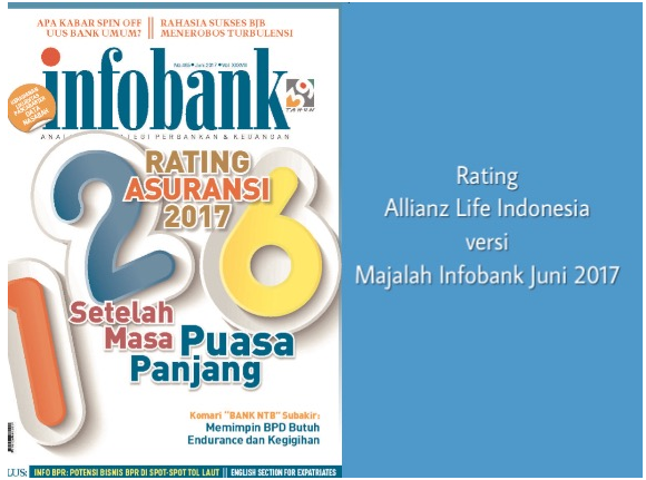 Rating Allianz Life Indonesia Versi Majalah Infobank Juni 2017