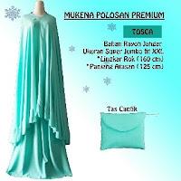 mukena Polos Premium warna hijau
