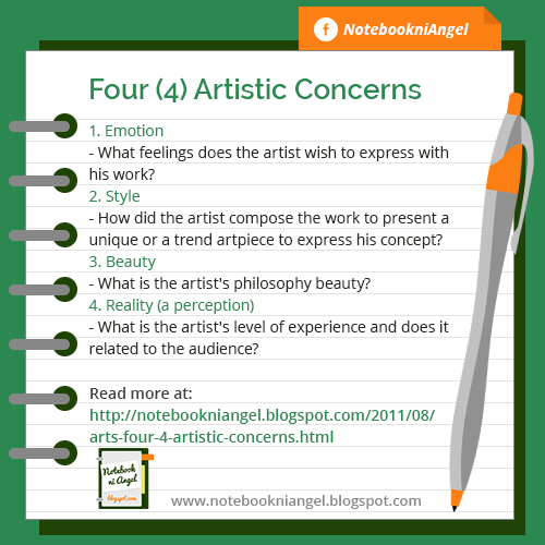 Four (4) Artistic Concerns