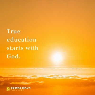 Worshipping God Is First Step in Learning by Rick Warren