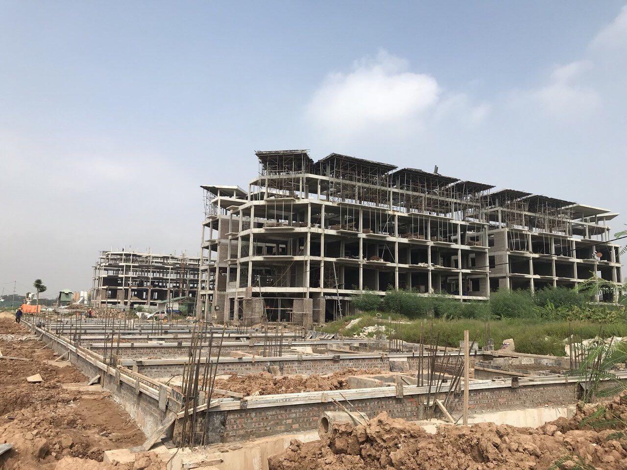 Tiến độ thi công Khai Sơn City Long Biên 8/2018
