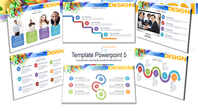 Template Powerpoint 5 (+34 Custom Powerpoint themes dan video tutorial cara install) 70 slides