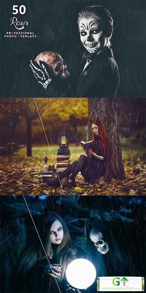 50 Rain Photo Overlays