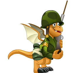 Appearance of Soldier Dragon when teenager