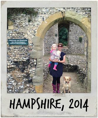 The Tin Box family at Bishops Waltham Palace