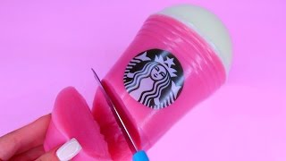 How To Make Real Starbucks Strawberry Frappe Giant Gummy Pudding Jelly Recipe