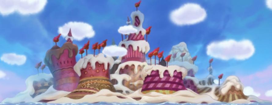 Satu persatu Kejutan di Arc Whole Cake Island ditunjukkan