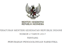 Permenkes No. 2 Tahun 2017 tentang Perubahan Penggolongan Narkotika