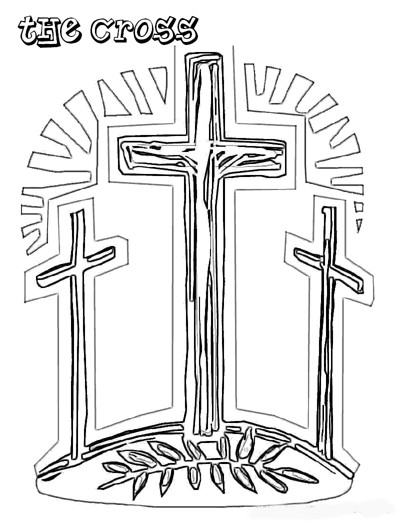 Free coloring pages christian easter coloring pages for Coloring pages of jesus on the cross