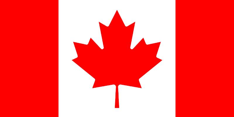 Logo Gambar Bendera Negara Kanada PNG JPG ukuran 800 px