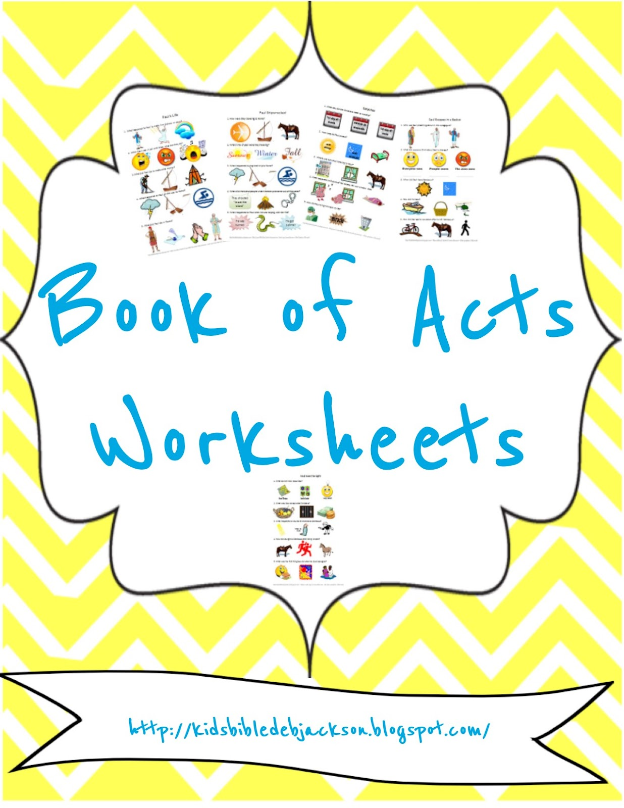 Bible Fun For Kids Worksheets