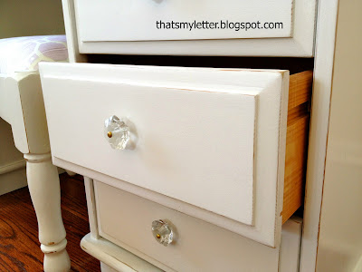 kids dressing table drawers distressed white