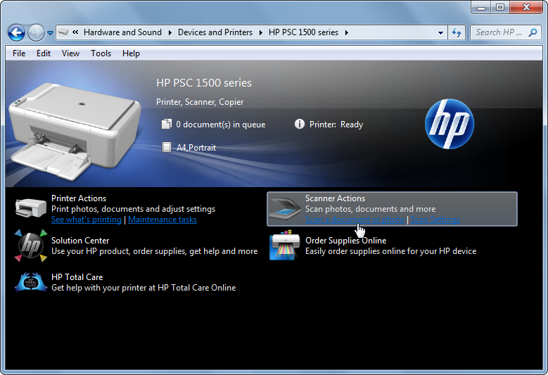Hp psc 1510 all-in-one printer win7 driver.