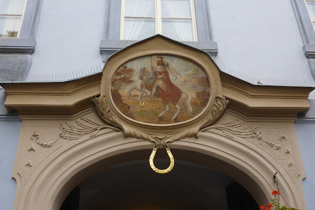 Saint Venceslas sur son cheval rue Nerudova Prague