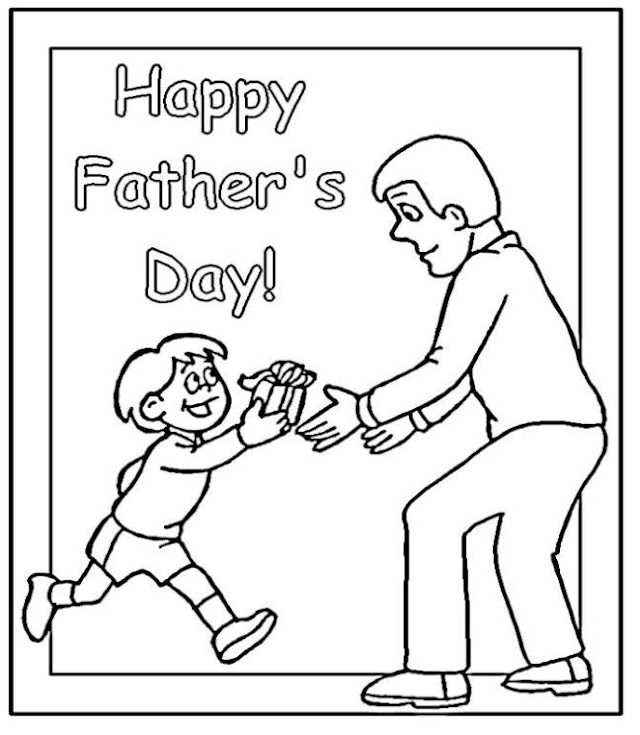 Kids Coloring Page | Fathers Day