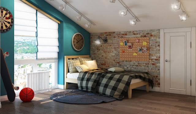 Children Room Design Ideas : Interior Children's loft-style