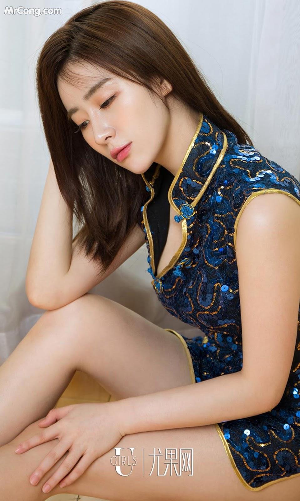 Image UGIRLS-Ai-You-Wu-App-No.999-Tian-Xin-MrCong.com-006 in post UGIRLS – Ai You Wu App No.999: Người mẫu Tian Xin (甜馨) (40 ảnh)