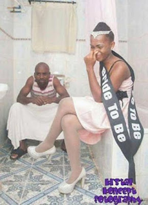 Another Couple Does The Toilet Pre-wedding Photo Shoot