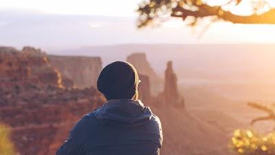 Adventurer looking in the Sunlight