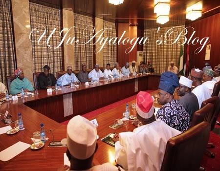APC Governors Keep Mum After Meeting With Buhari